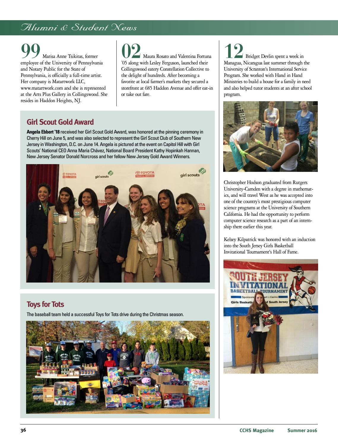 Cchs Magazine 2016 By Camden Catholic High School Issuu