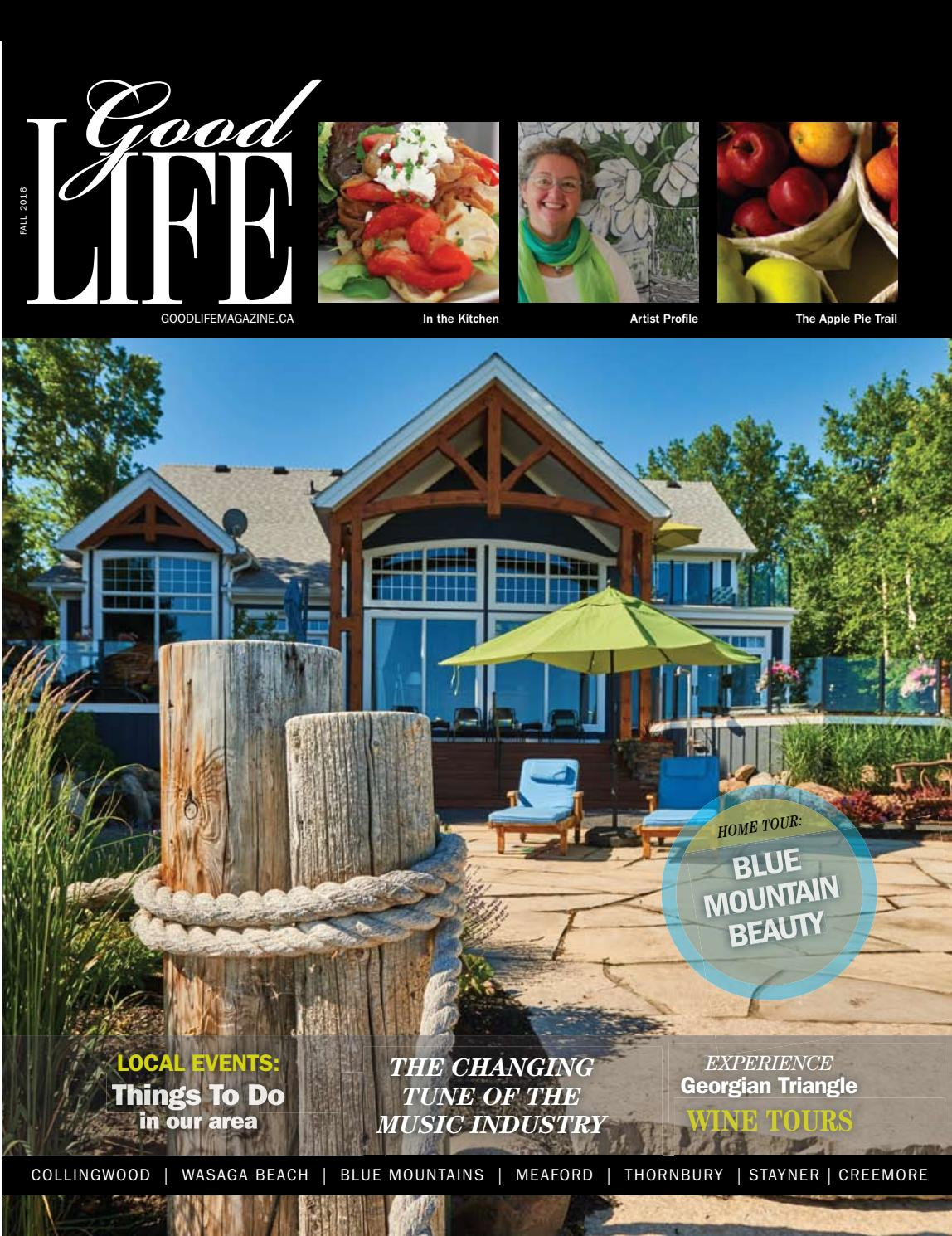 GOODLIFE GEORGIAN BAY FALL 2016 by GoodLife Magazine - Simcoe County ...