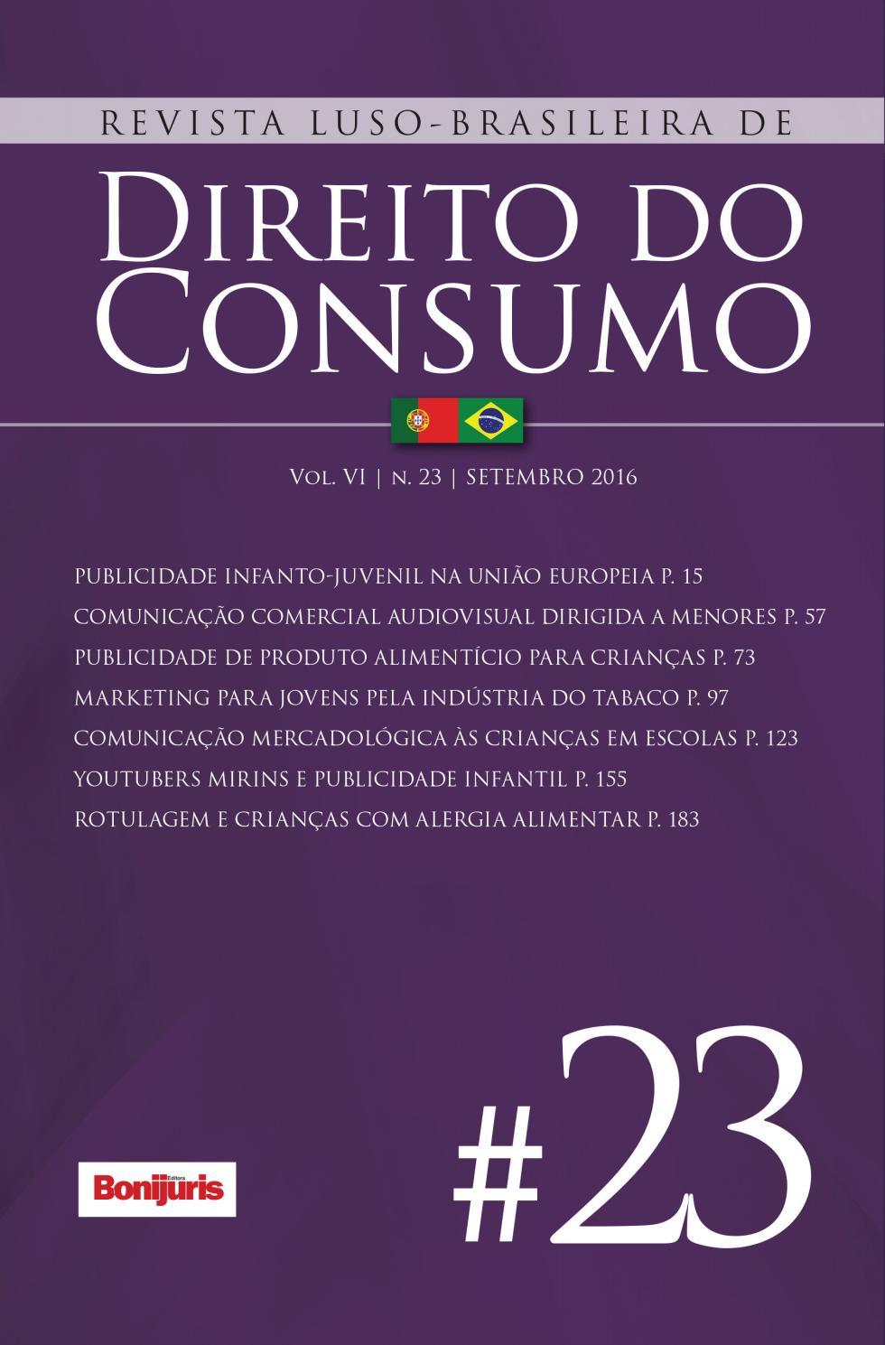 Revista luso brasileira de direito do consumo n 23 by Editora Bonijuris -  issuu b5e0b4c50e31e