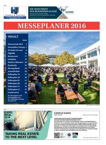 Expo Messeplaner 2016 By Immobilien Zeitung Verlagsgesellschaft MbH ...