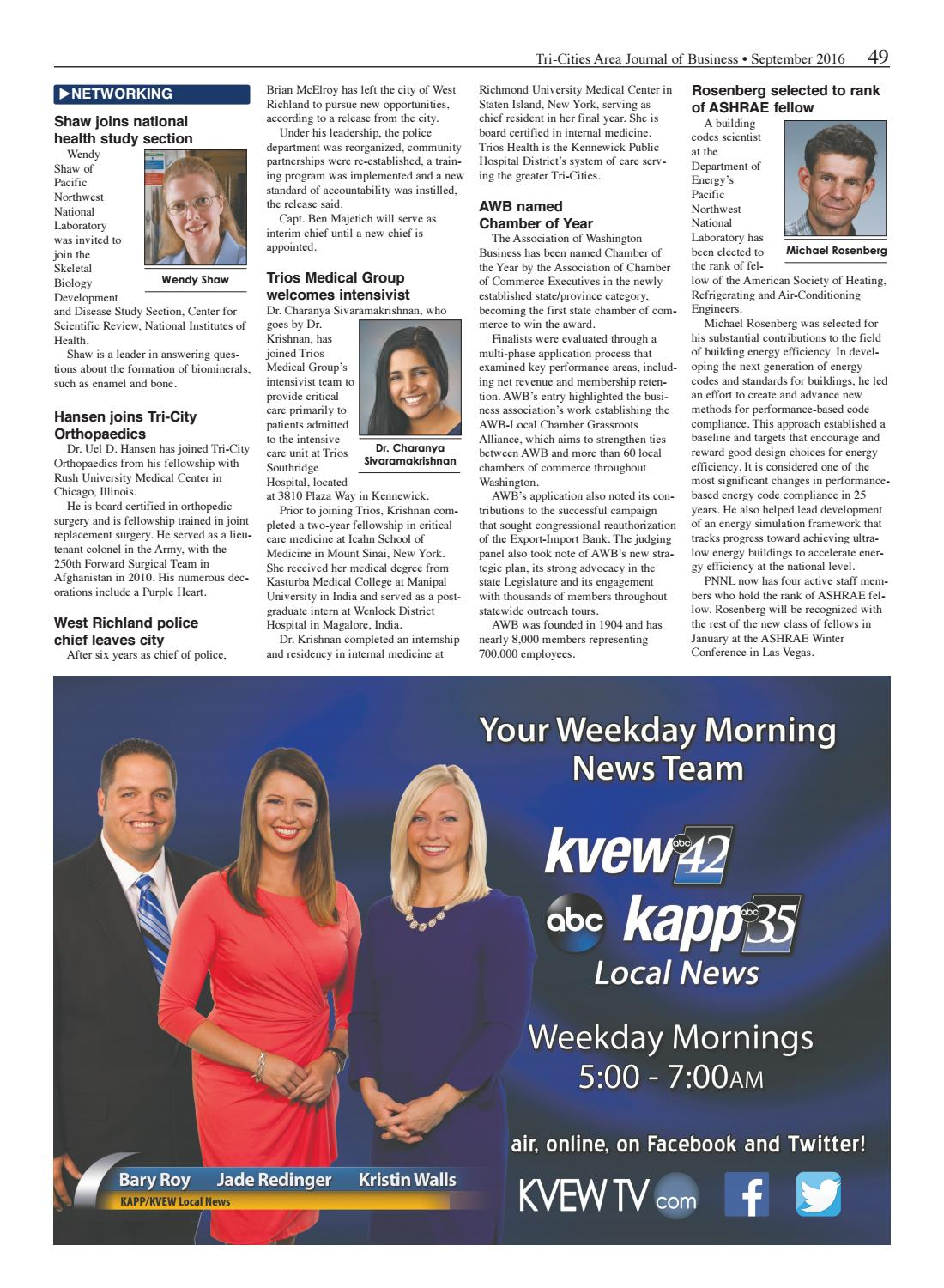 Tri-Cities Area Journal of Business - September 2016 by Tri