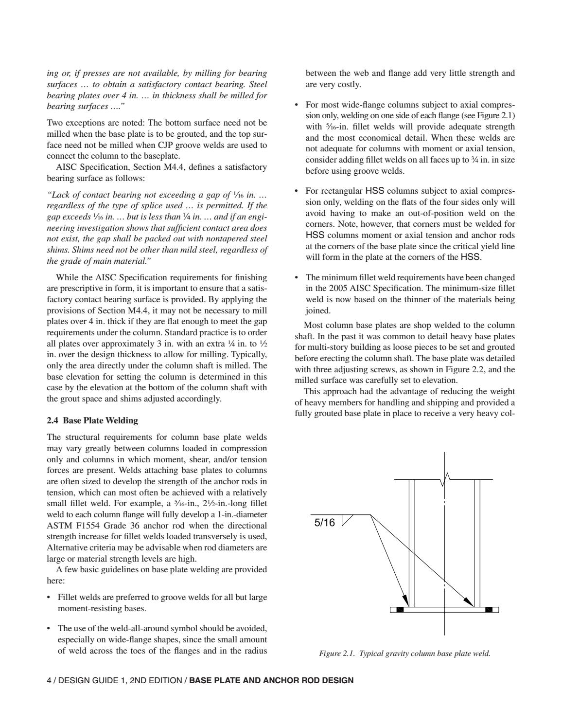 Aisc Design Guide 01 Base Plate And Anchor Rod Design 2nd Ed By