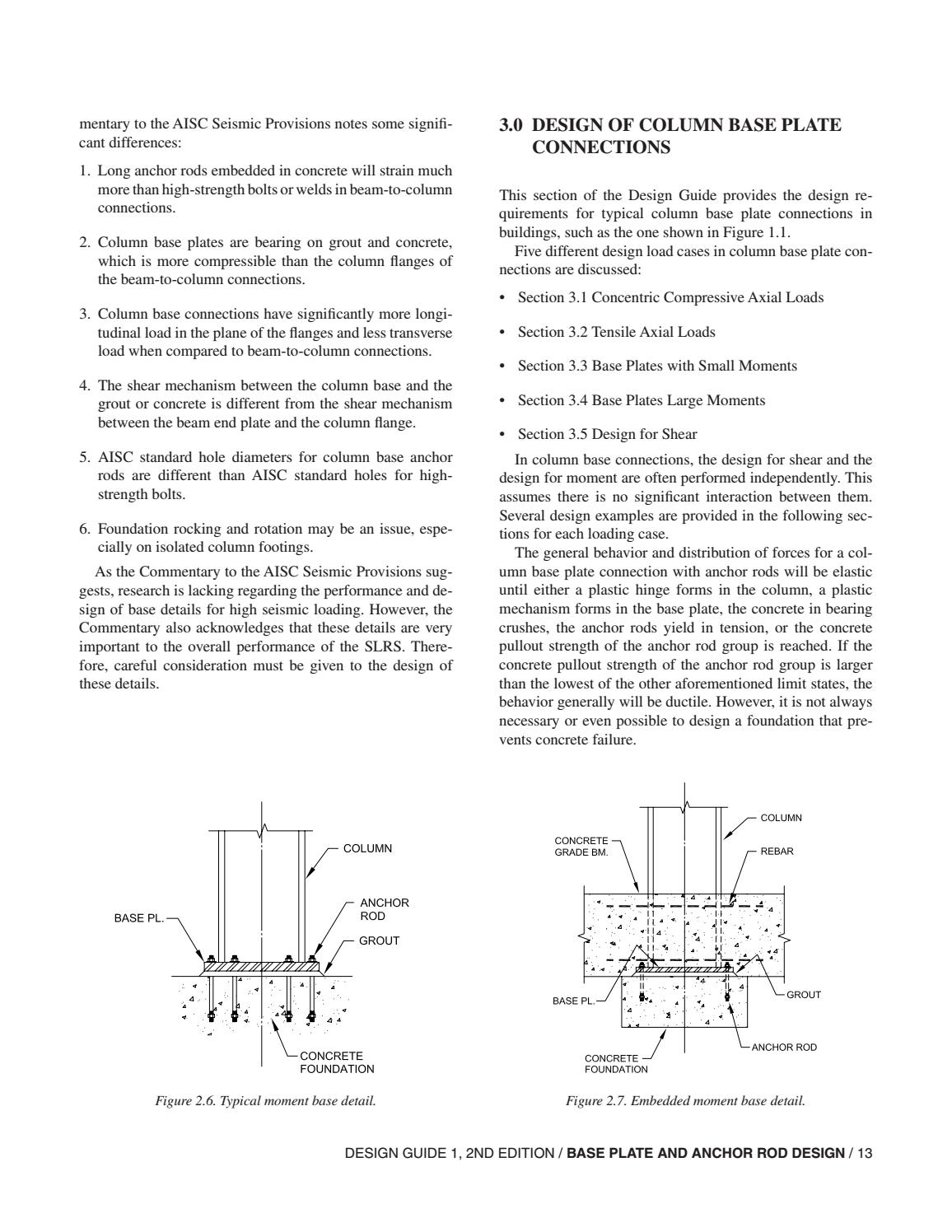 Aisc Design Guide 01 Base Plate And Anchor Rod Design 2nd