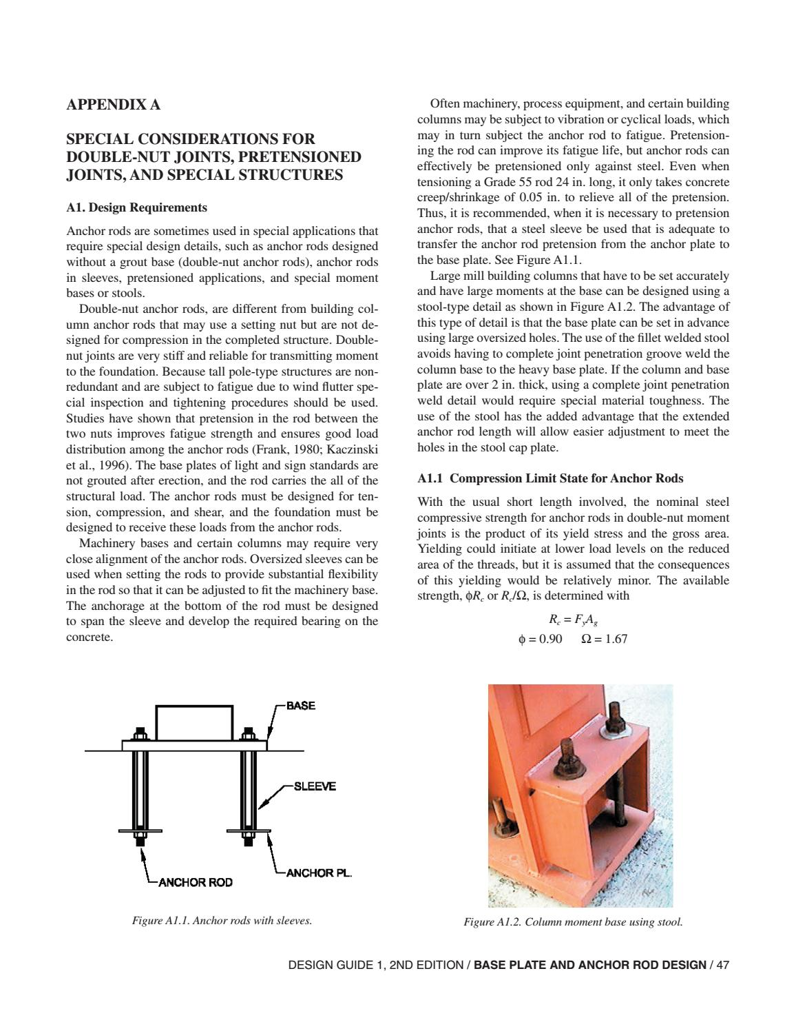 Aisc design guide 01 base plate and anchor rod design 2nd ed