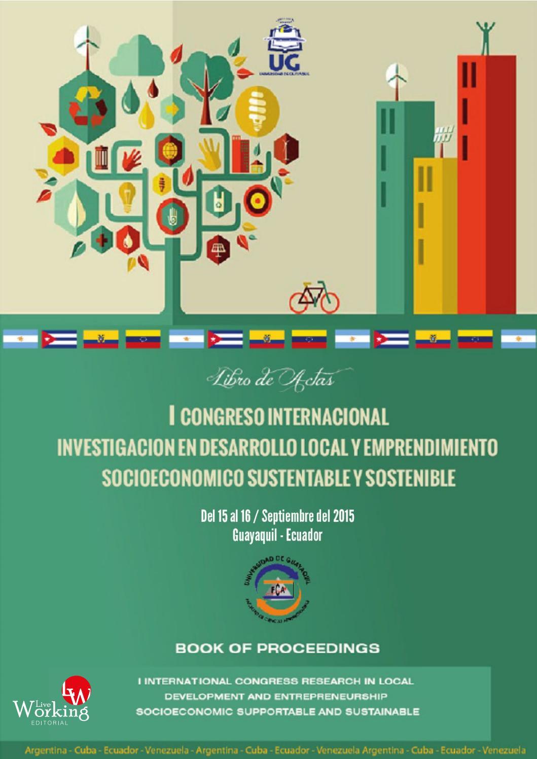 I congreso de investigaci n de desarrollo local y emprendimientos by ciencias administrativas ug issuu