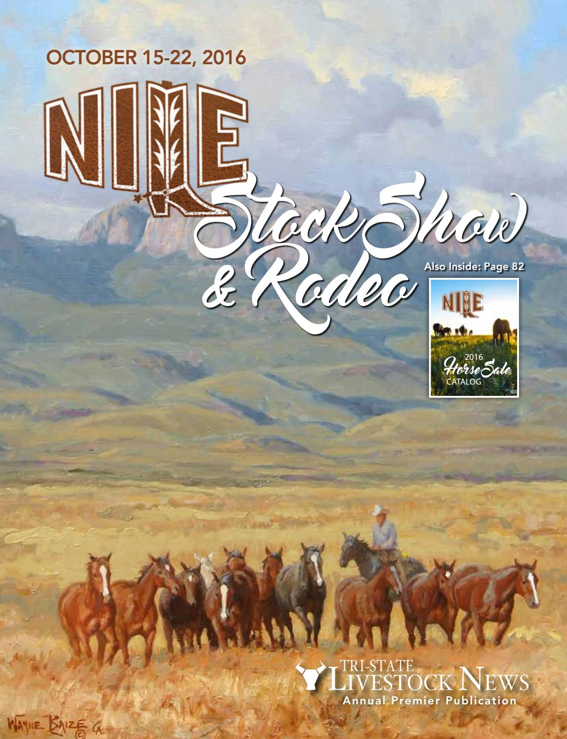 079218bea2 2016 NILE Premier Issue & Horse Sale Catalog by Tri-State Livestock ...