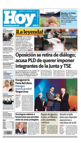 61330f4bd9 Periódico 20 de sept 2016 by Periodico Hoy - issuu