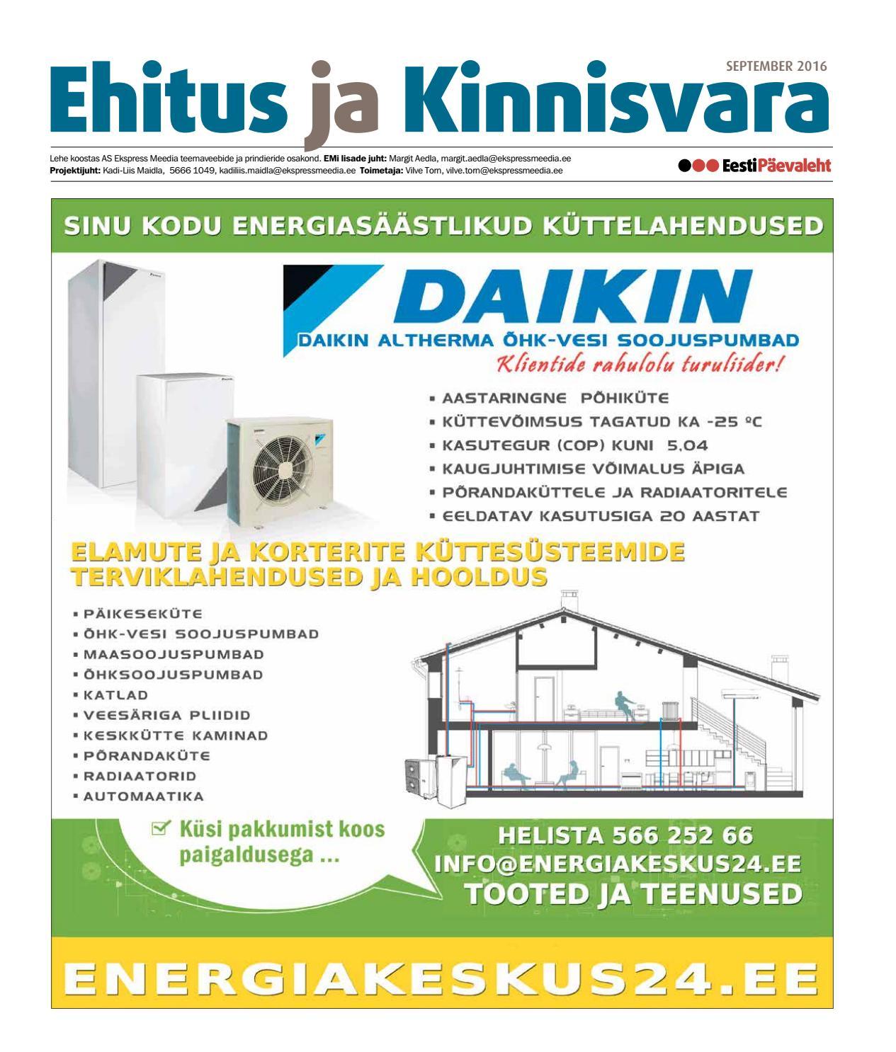 6c49e64dc59 Ehitus ja Kinnisvara (september 2016) by Eesti Päevalehe AS - issuu