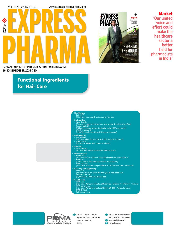 Express Pharma (Vol.11, No.22) September 16-30, 2016 by Indian ...