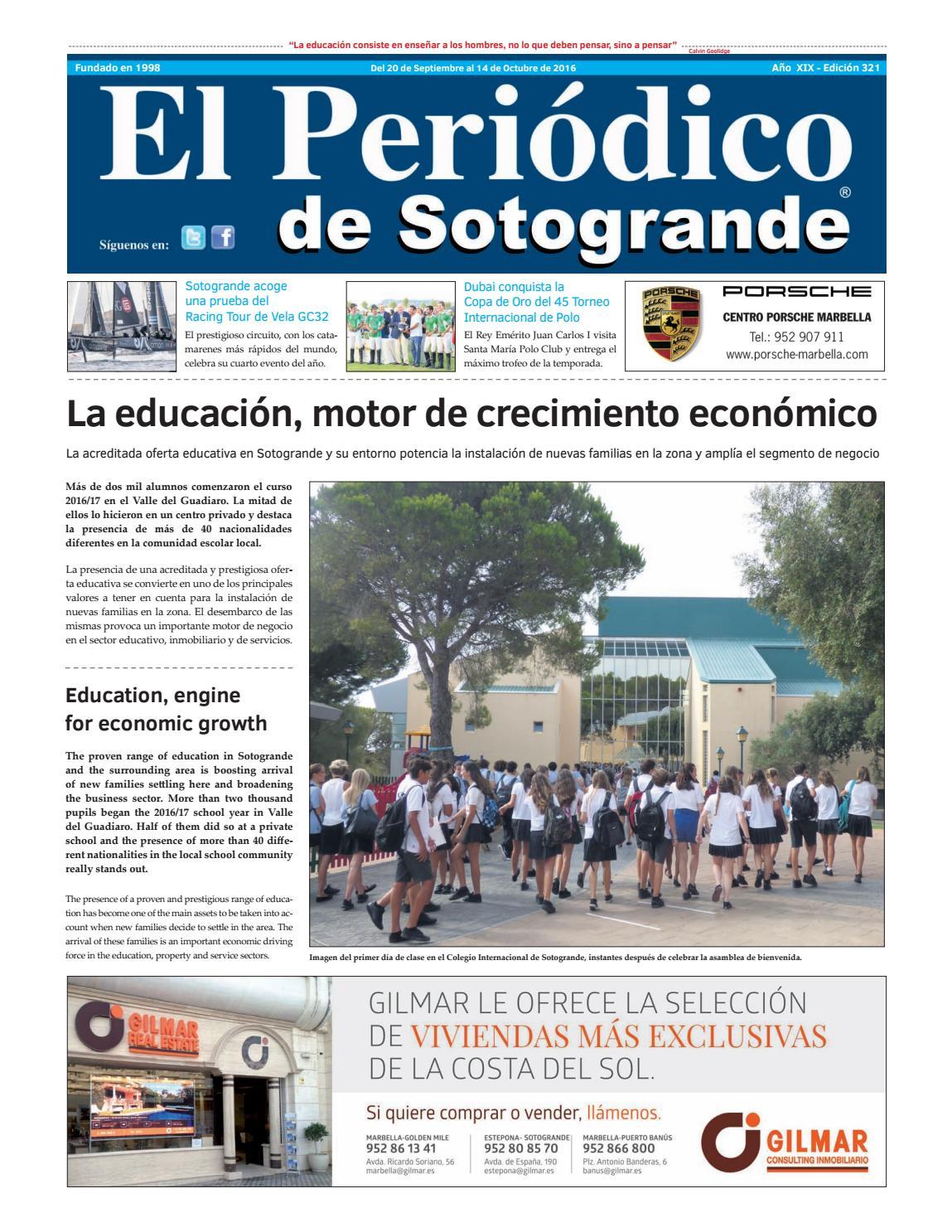 El Periódico de Sotogrande 321 by HCP GROUP SOTOGRANDE - issuu