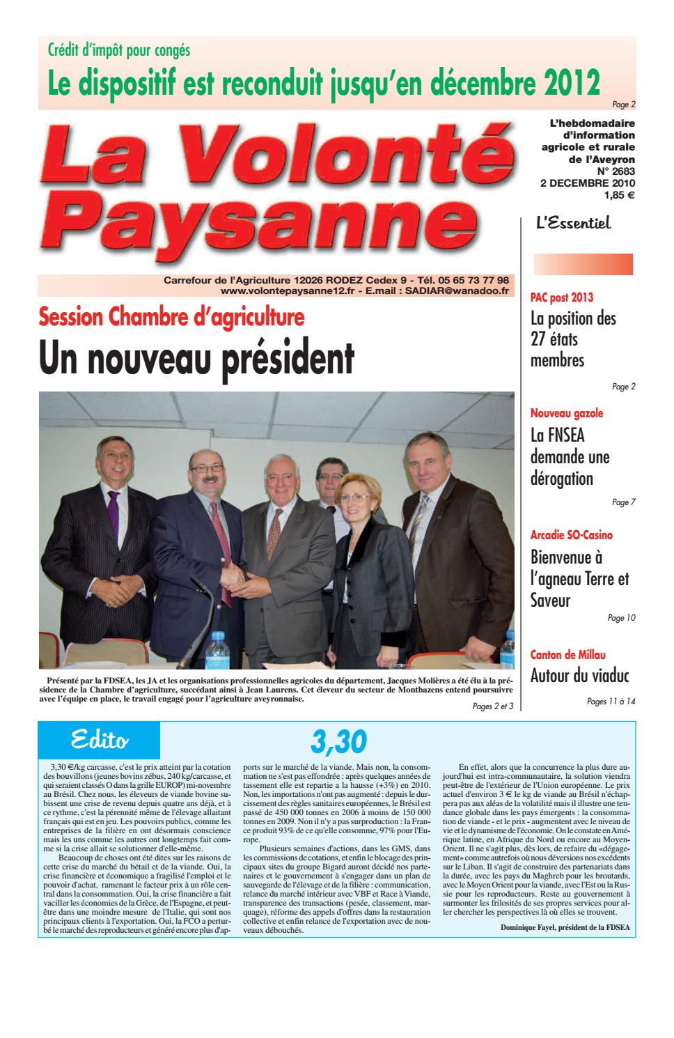 20100212 by fdsea12 issuu - Chambre d agriculture rodez ...