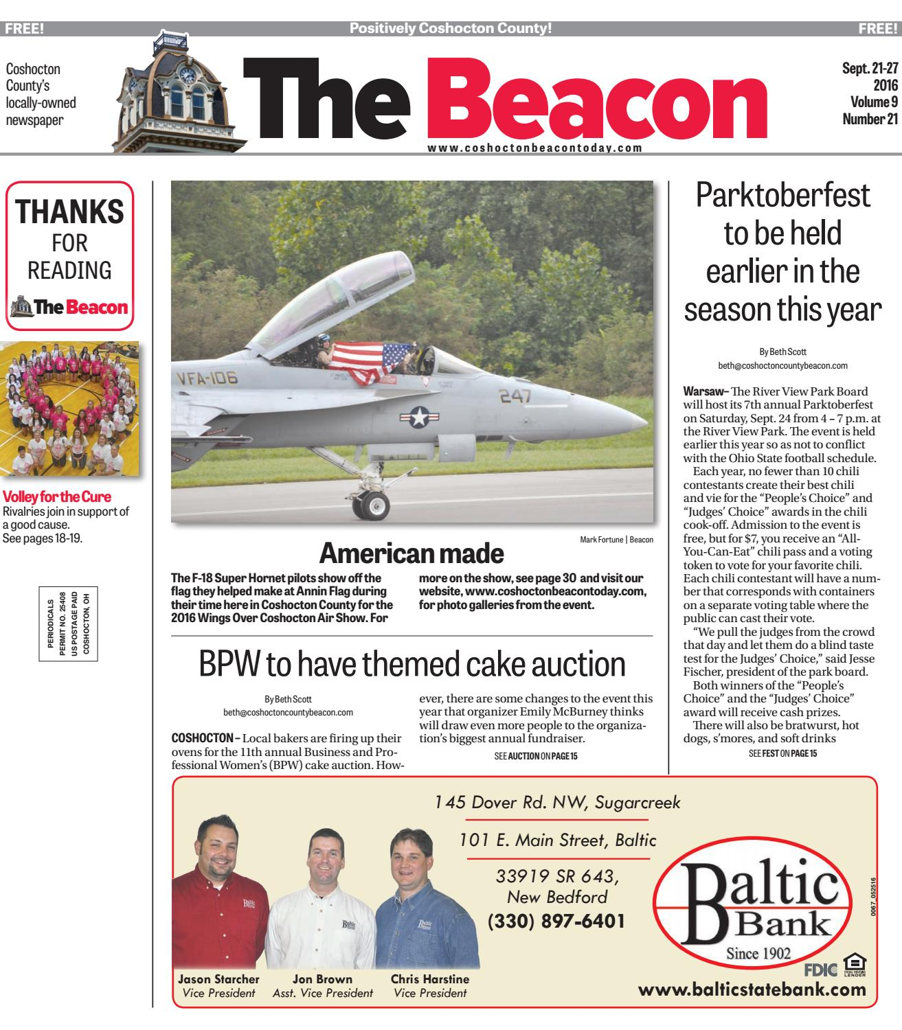 September 21 2016 Coshocton County Beacon By The