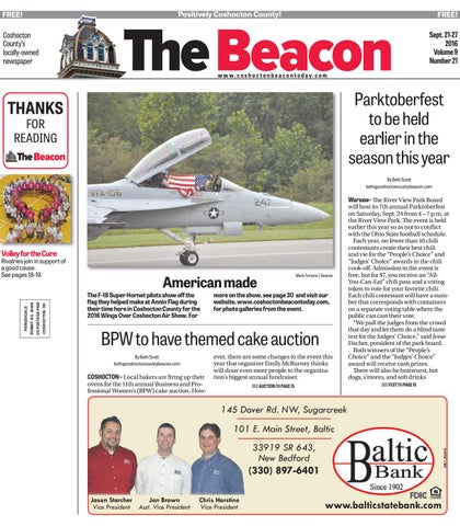 September 21, 2016 Coshocton County Beacon by The Coshocton
