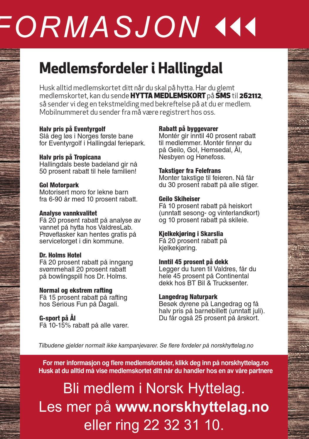 7261607db19ce1 Din lokale hytteguide for Hallingdal 2016 by Norsk Hyttelag - issuu