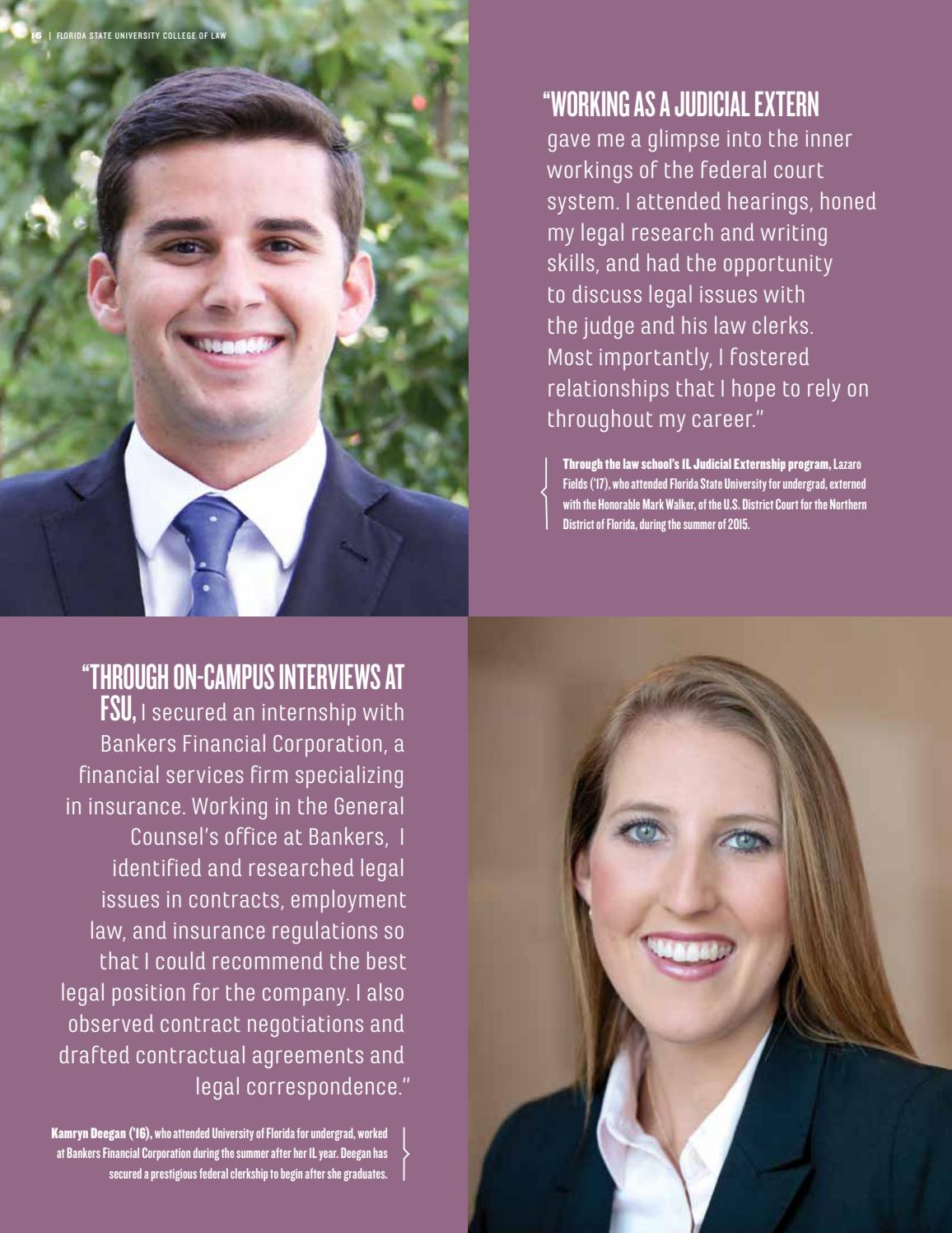 FSU College of Law 2016-2017 Viewbook by Florida State