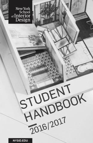 NYSID Student Handbook 2016 2017 By New York School Of Interior