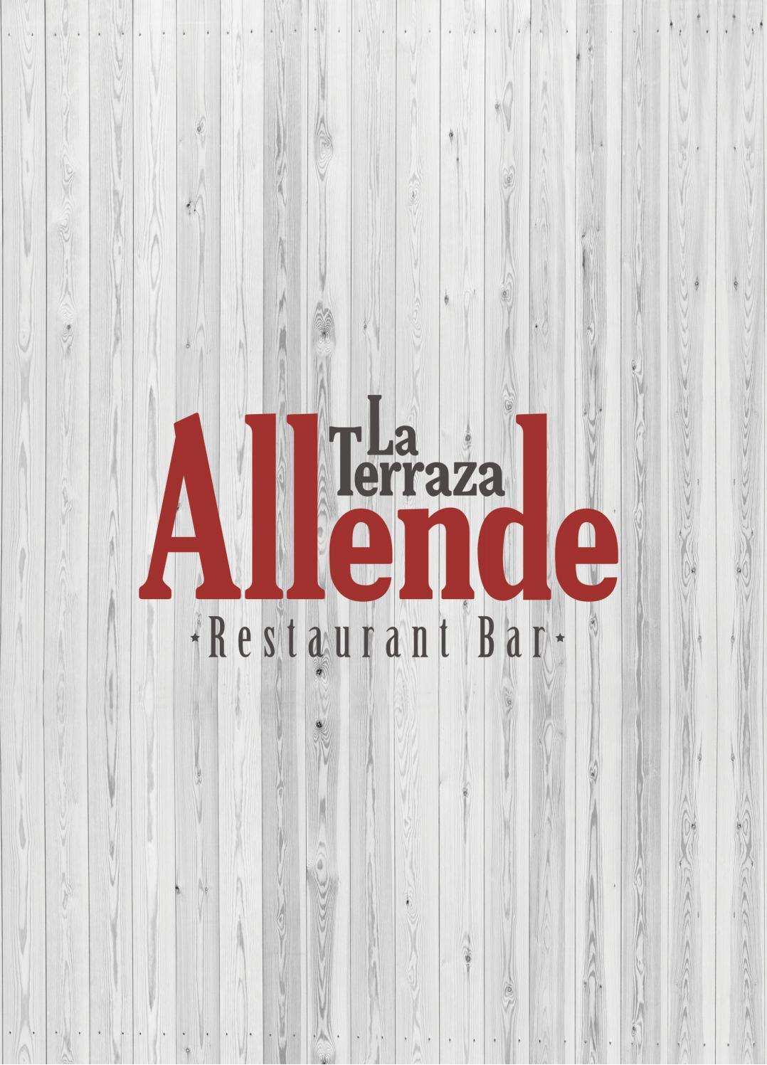 Menú La Terraza Allende By Ricardo Quintana Issuu