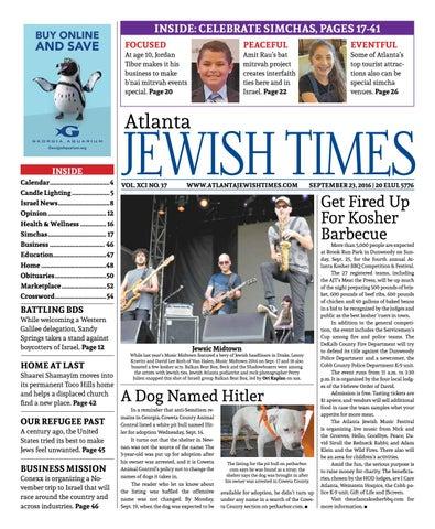 Atlanta Jewish Times, Vol  XCI No  37, September 23, 2016 by Atlanta