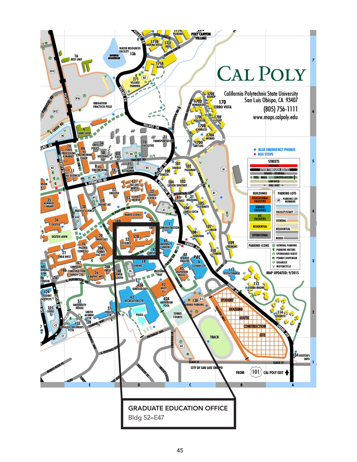 2016 17 Cal Poly Graduate Education Handbook by California ... Cal Poly Maps on