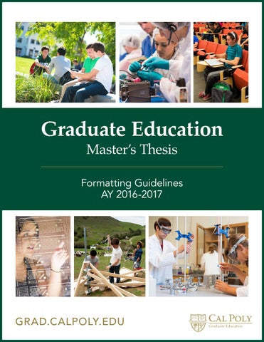 Masters special education thesis
