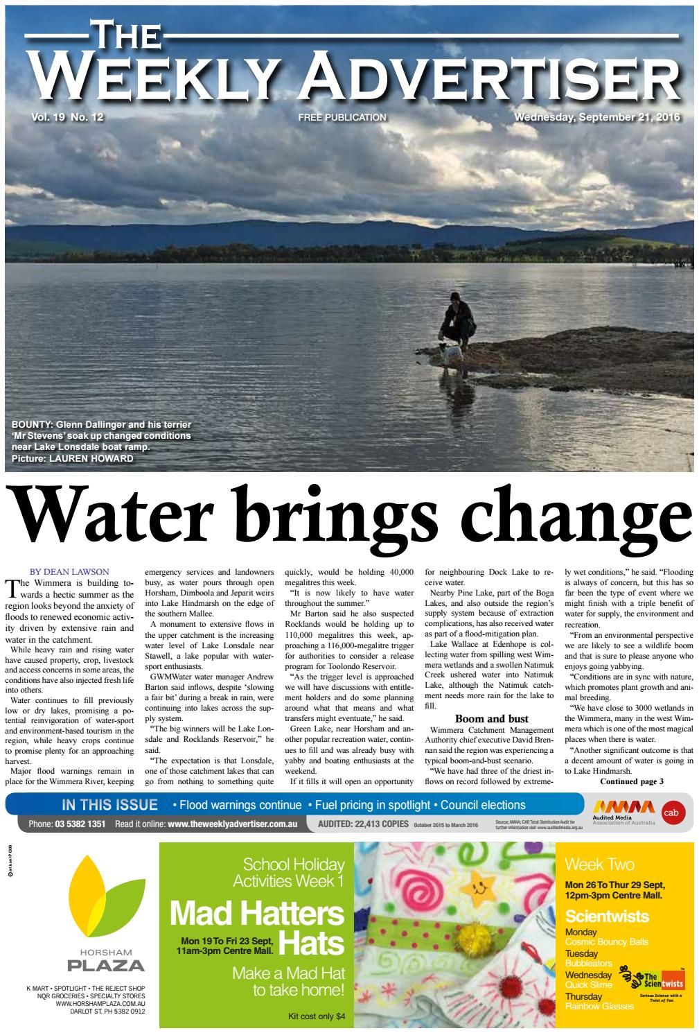 The Weekly Advertiser Wednesday September 21 2016 By The Weekly