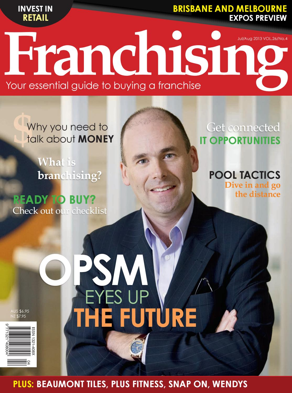 franchising magazine july august 2013 issue by octomedia pty ltd