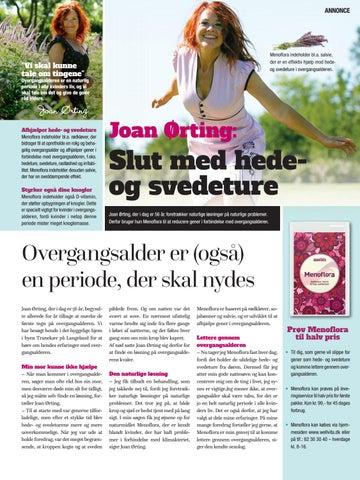 joan ørting og overgangsalder