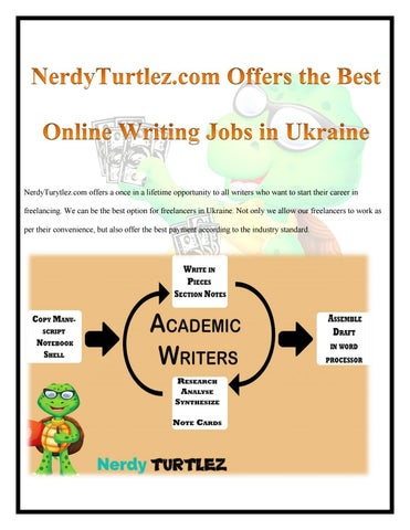 nerdy turtlez best platform for academic writing jobs online in  nerdyturtlez com offers the best online writing jobs in ukraine