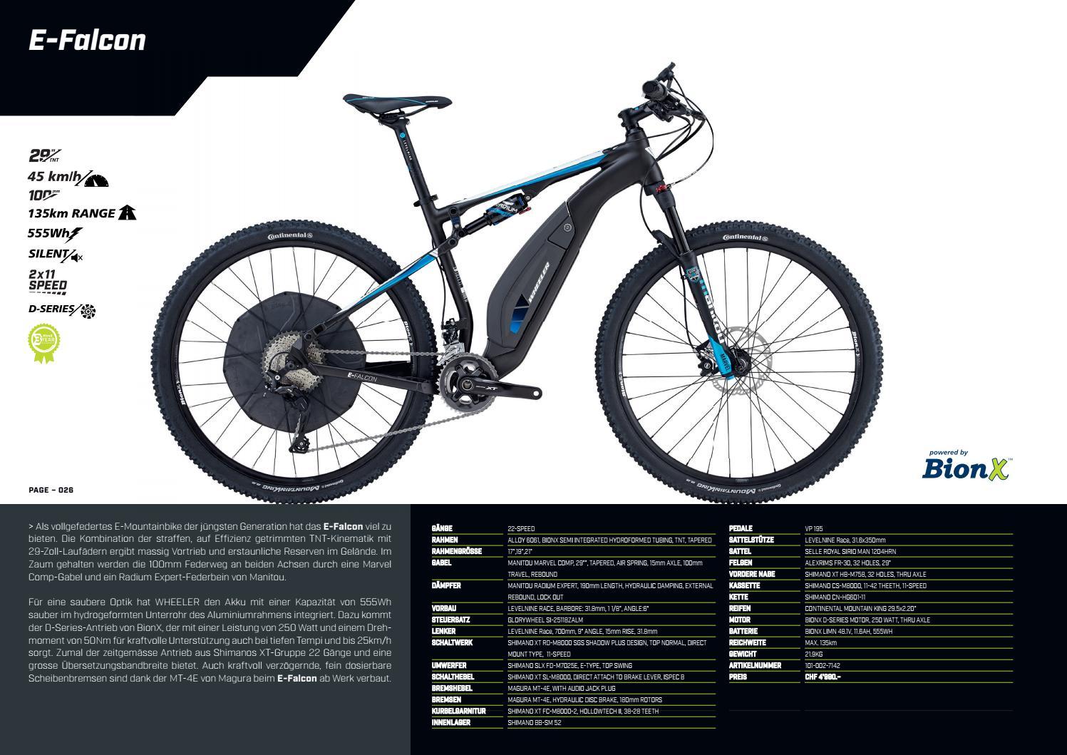 Wheeler 2017 E-Bikes DE by hostettler group - issuu