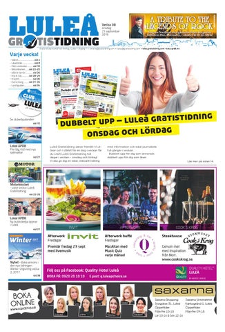 new product 1ac18 efe3c Luleå Gratistidning med Team Sportia bilaga