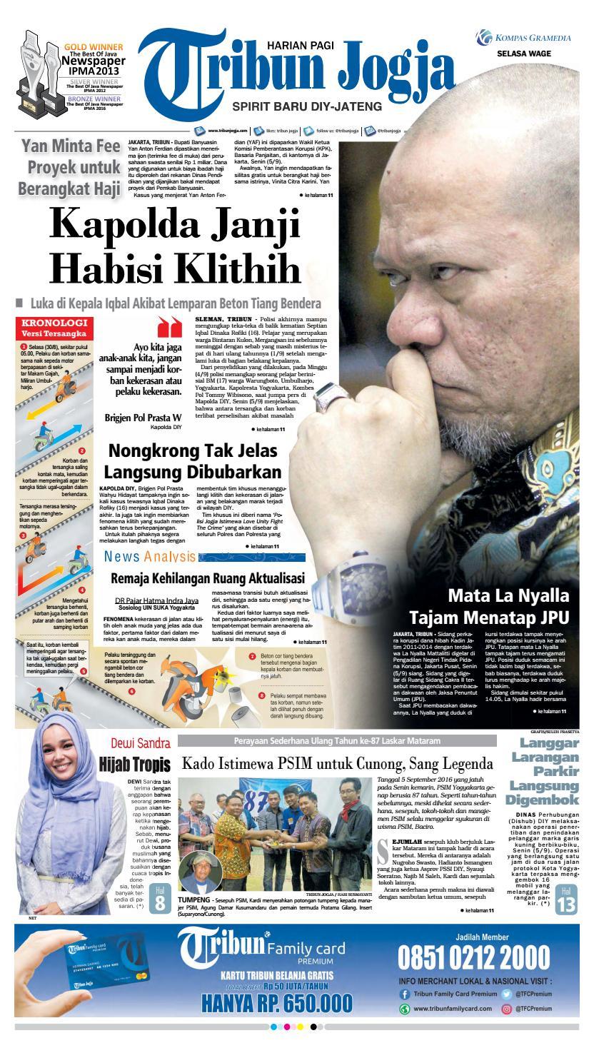Tribunjogja 06 09 2016 By Tribun Jogja Issuu Produk Ukm Bumn Batik Tulis Warna Alam Ra Ampamp