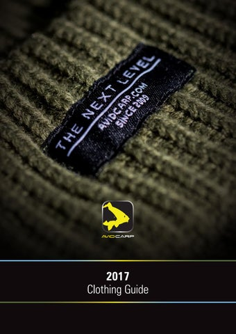 7e7407bc2d5 Avid Carp Clothing Guide 2017 by Fishing UK - issuu