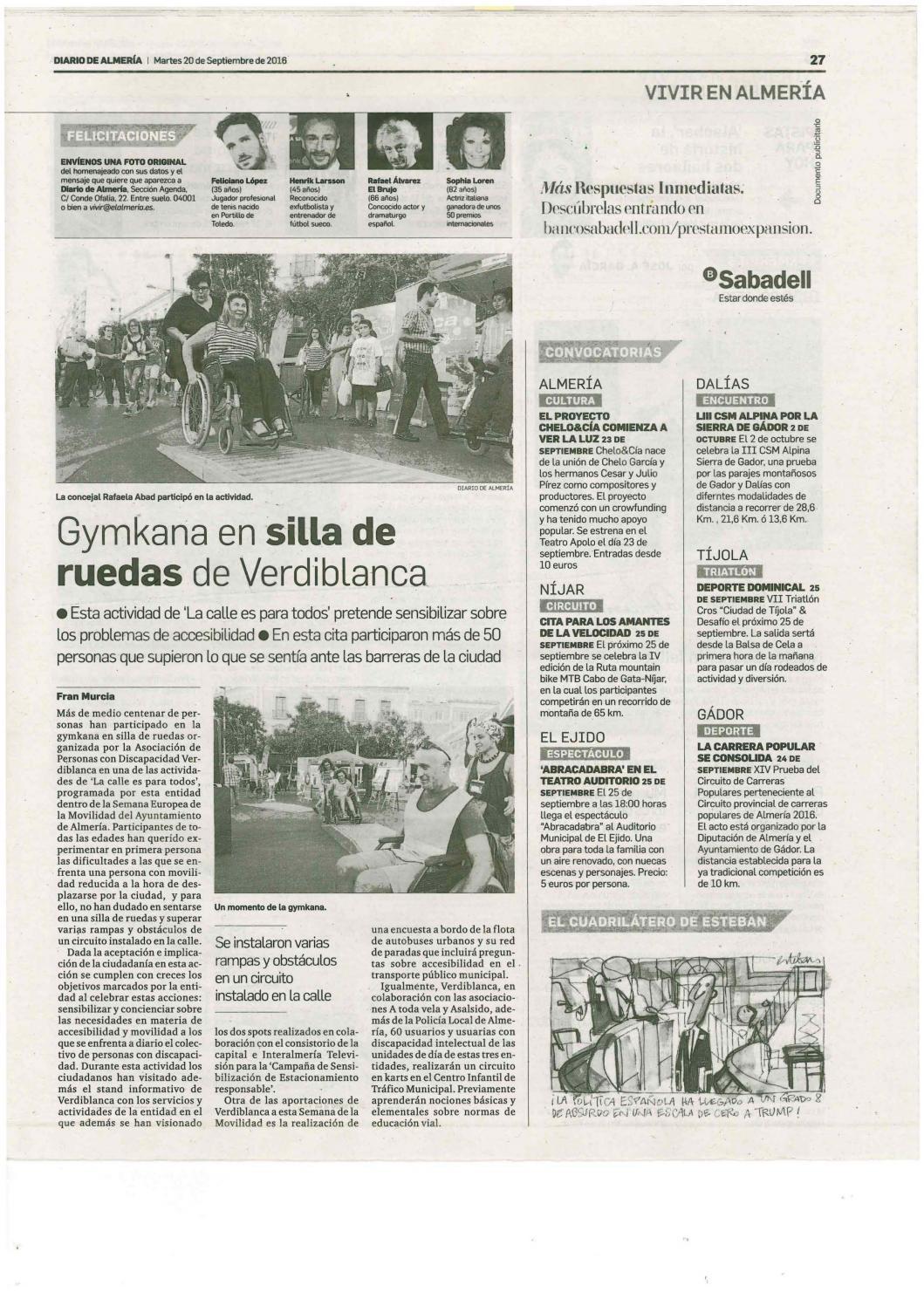 Dossier Prensa Discapacidad 20 21 Septiembre By Asociaci N  # Muebles Lao Abrucena