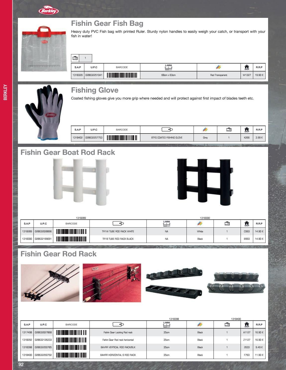 Berkley Fishin/' Gear Fish Grip Gloves BTFG 1318402