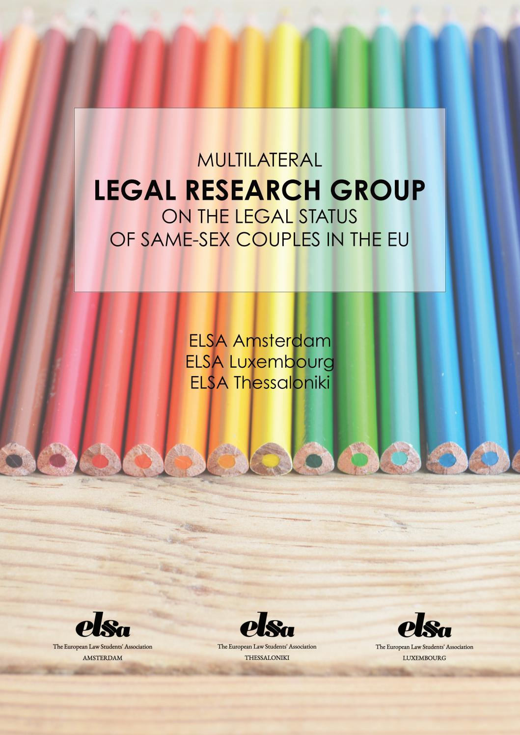 Multilateral Legal Research Group on the Legal Status of Same-Sex