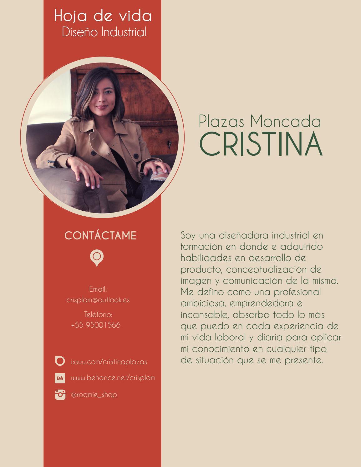 Hoja de vida 2016 - 2017 by Cristina Plazas - issuu