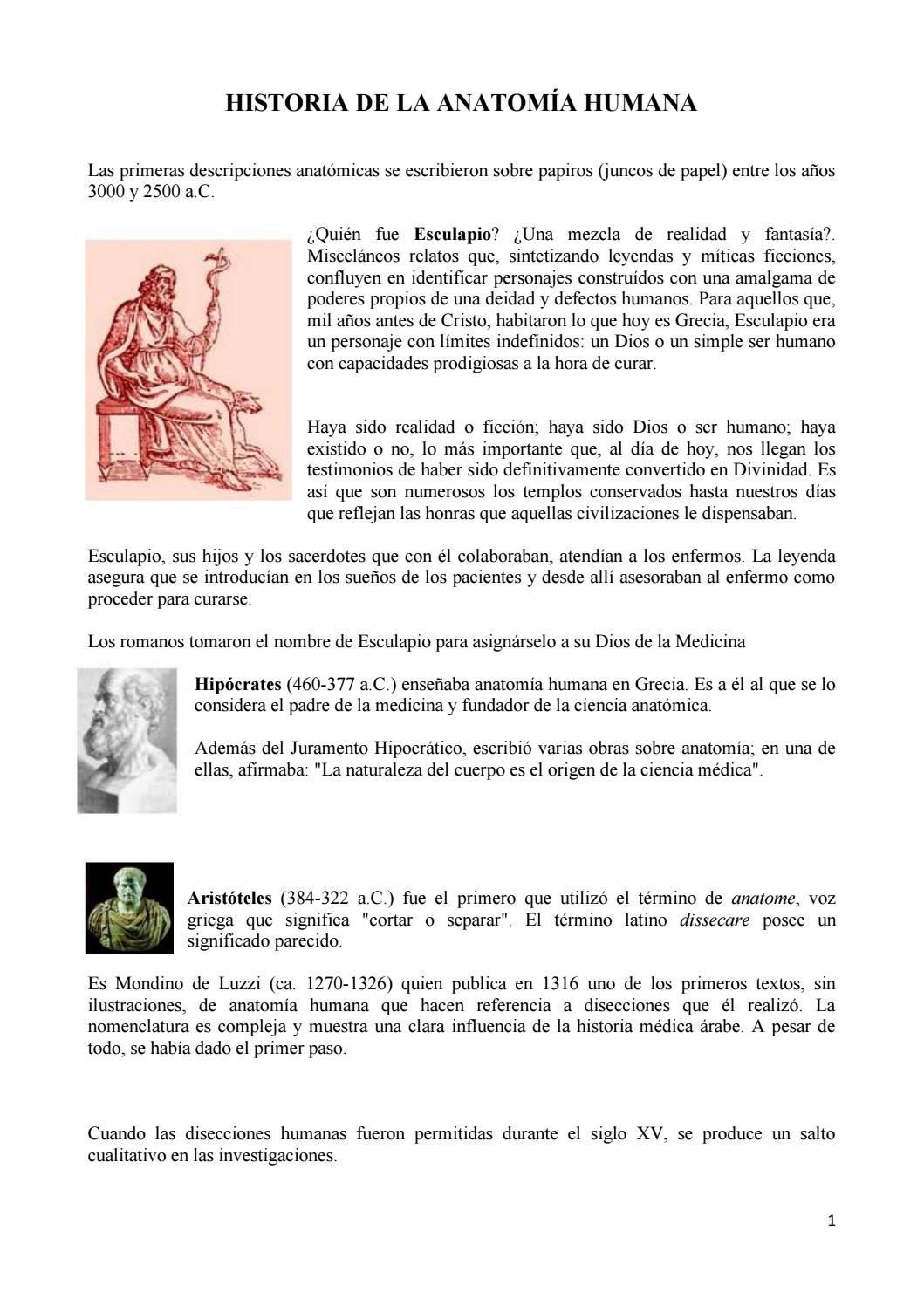 01 breve historia anatomia by Sergio Navarro Navas - issuu
