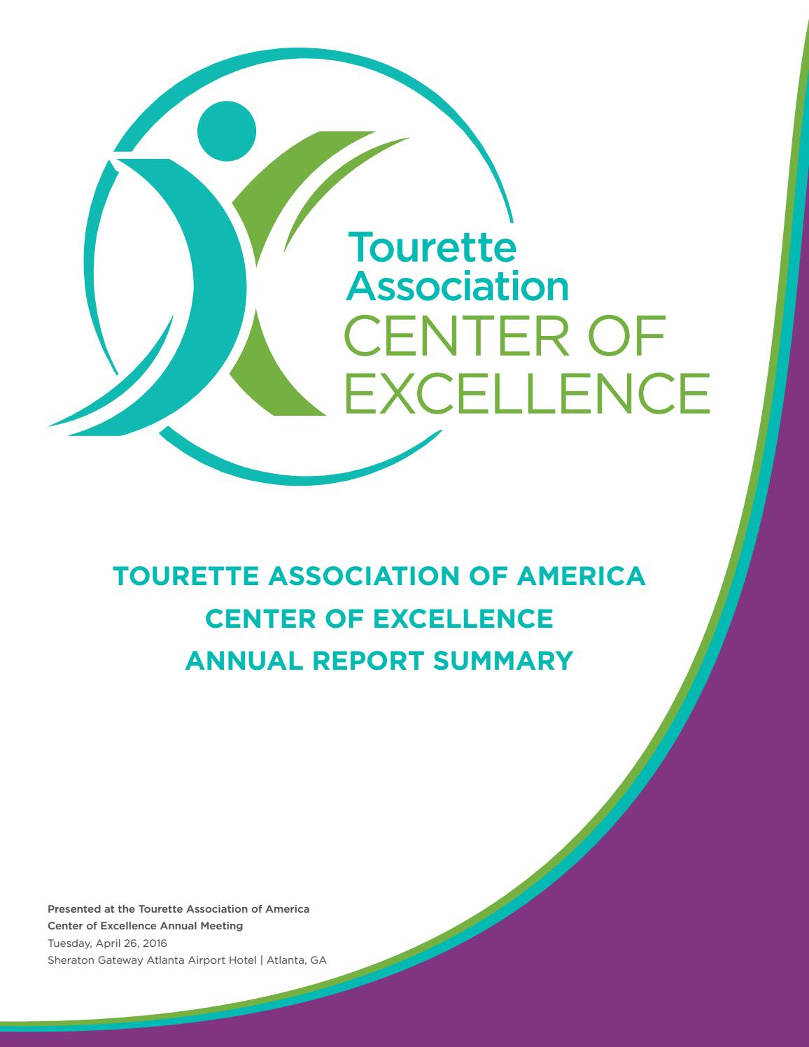 Annual Report CofE by Tourette Association of America - issuu