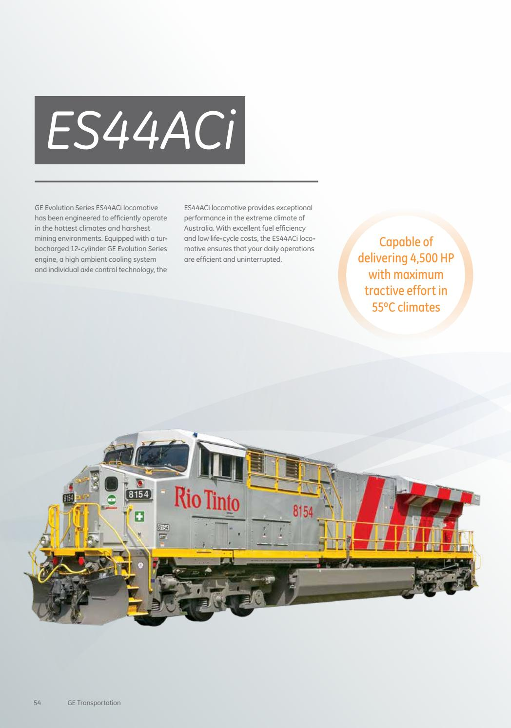 GE Transportation Locomotive Product Catalog by GE
