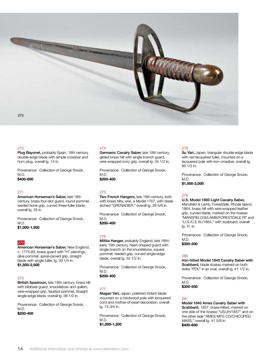 Historic Arms Militaria Skinner Auction 2946m By Inc Wiring A Plug In Spain Issuu