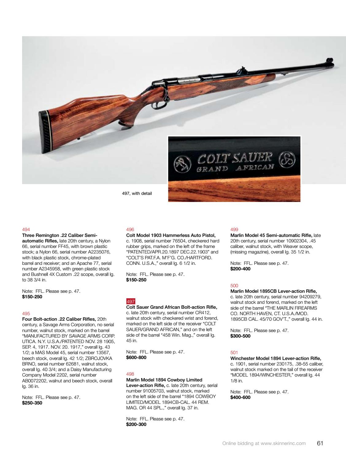 Historic Arms & Militaria | Skinner Auction 2946M by Skinner, Inc