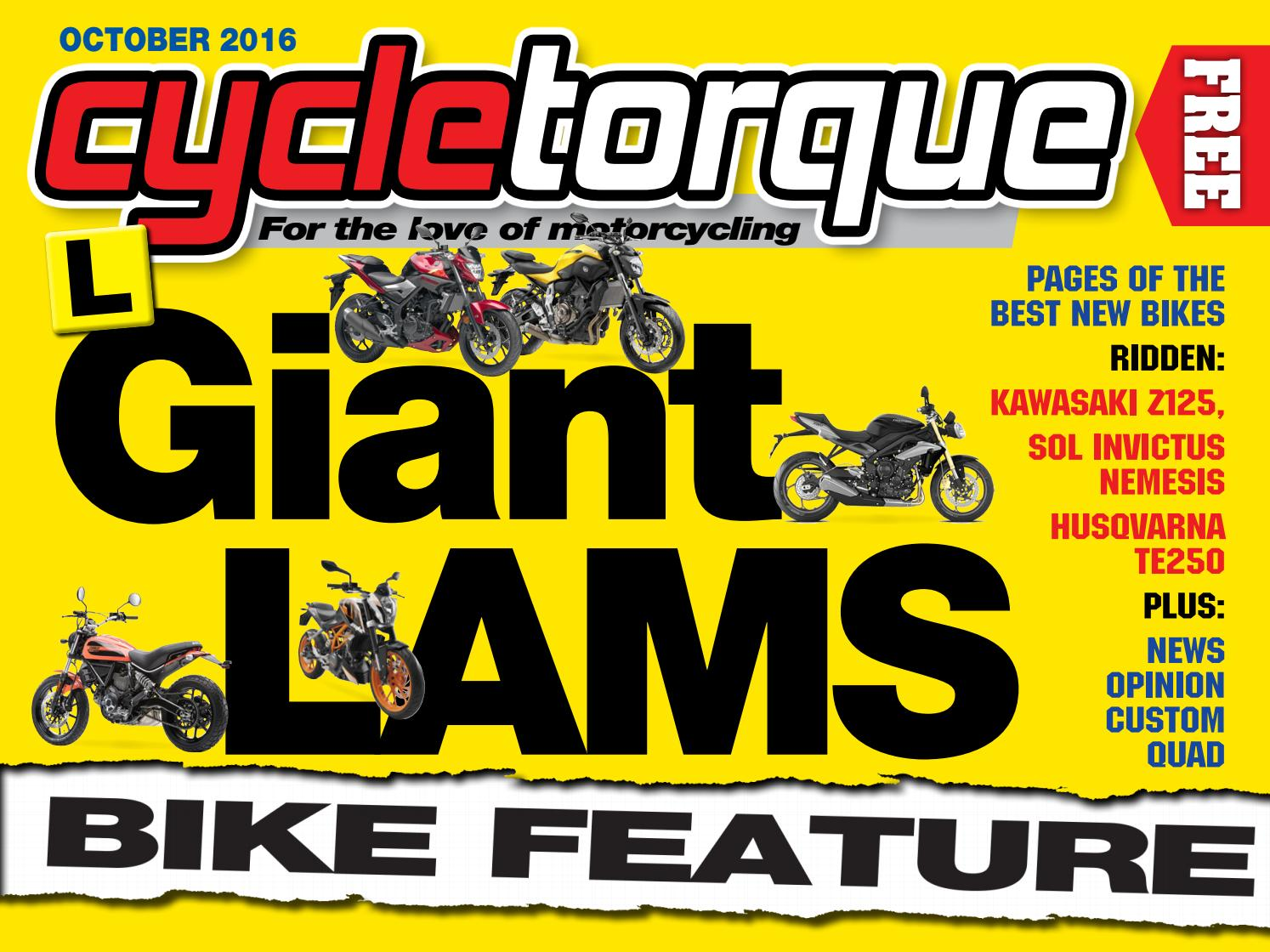 Cycle Torque October 2016 by Cycle Torque - issuu