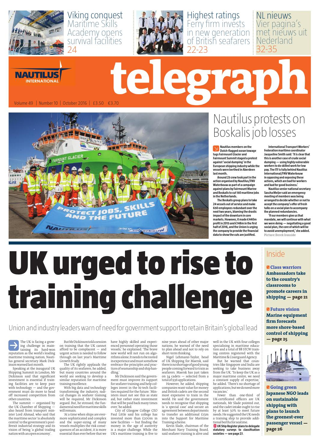 Vaak Nautilus Telegraph October 2016 by Redactive Media Group - issuu CU86