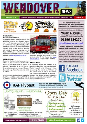 October 2016 Wendover News by Wendover News - issuu