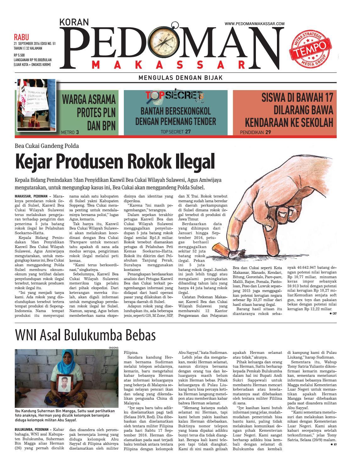 Edisi 51 21 September 2016 Pedoman Makassar By Pedoman Makassar Issuu
