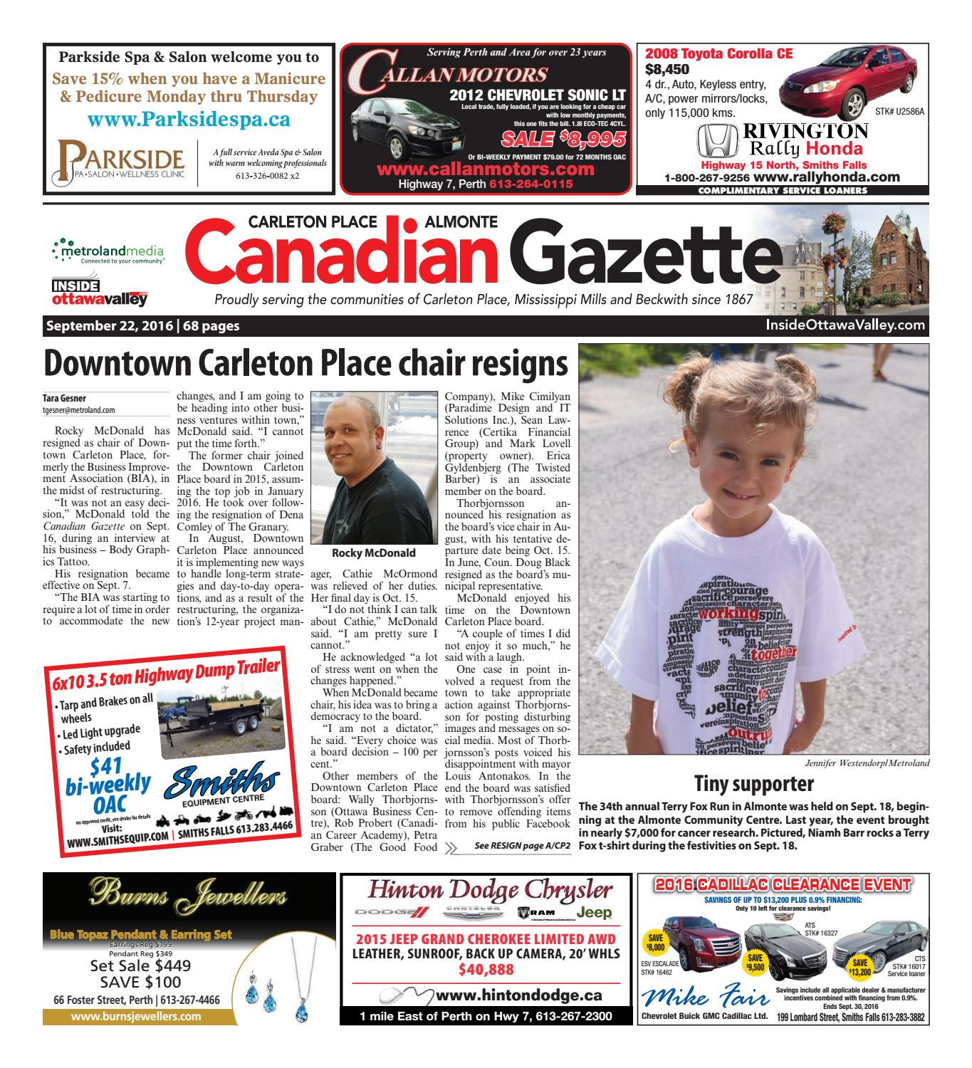 f88aa45619a Almontecarletonplace092216 by Metroland East - Almonte Carleton Place  Canadian Gazette - issuu