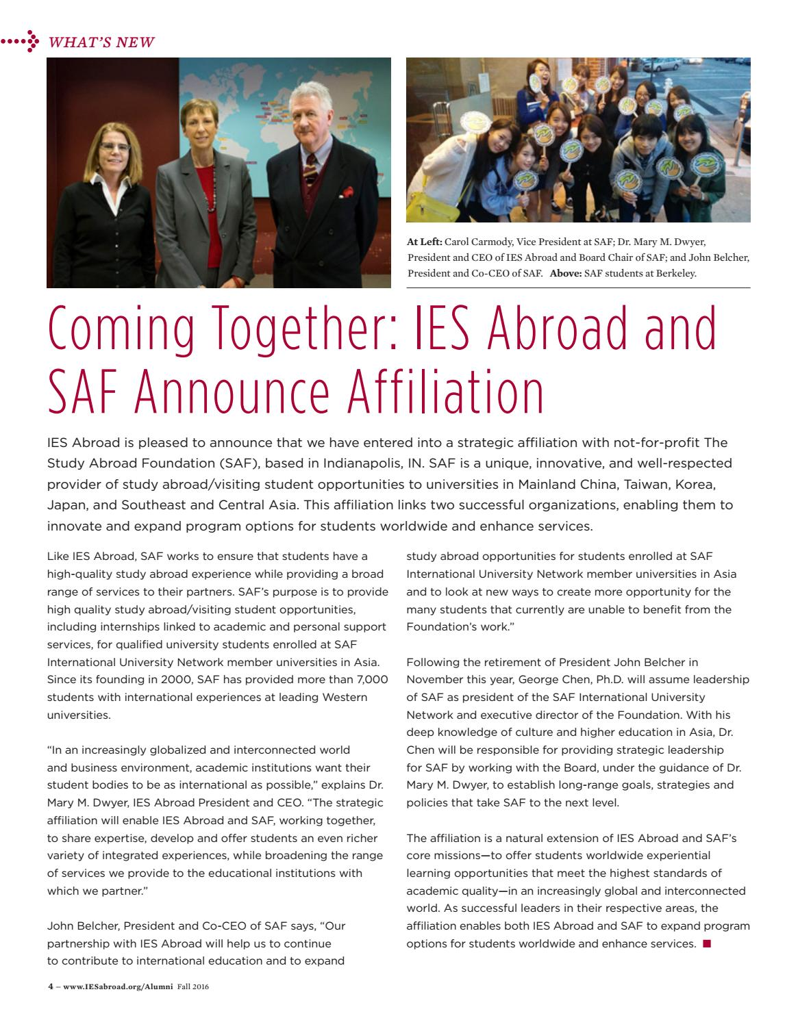 Exchange Fall 2016 By Ies Abroad Issuu