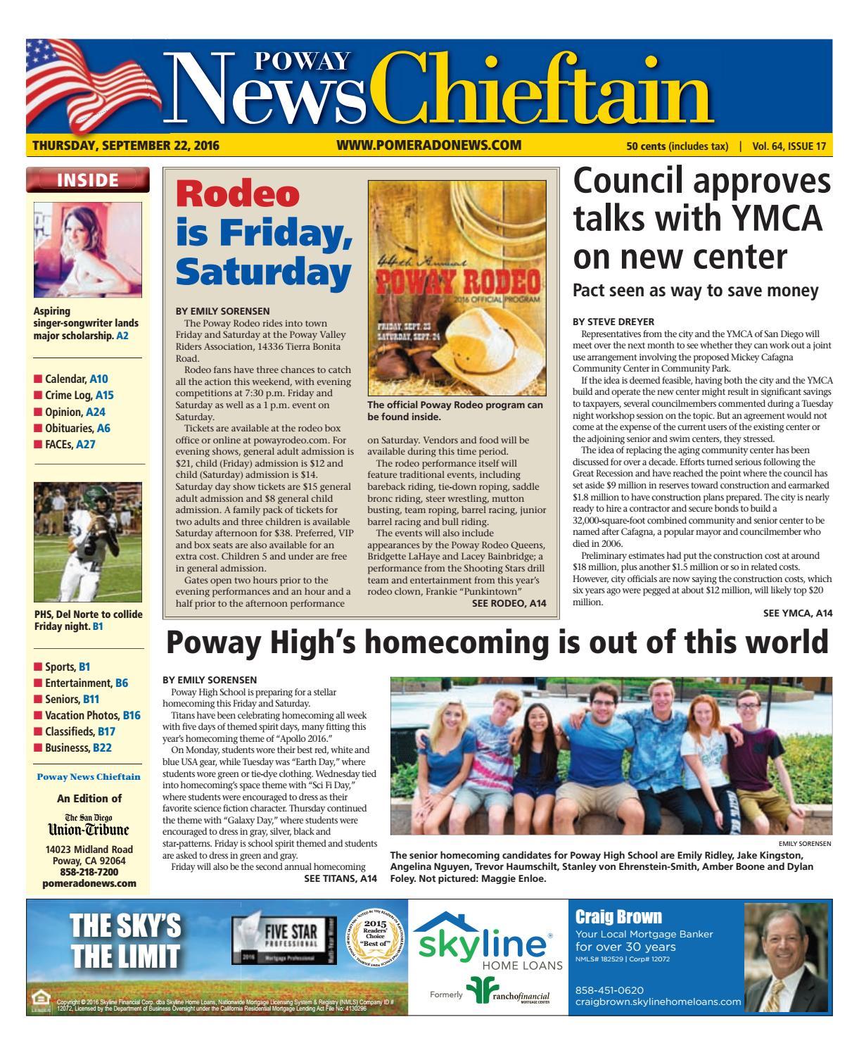 Poway news chieftain 09 22 16 by MainStreet Media - issuu