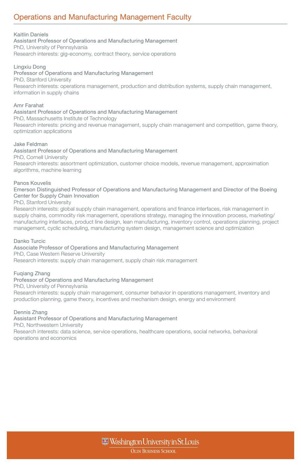 Olin Business School PhD Brochure (9/22/16) by Olin Business
