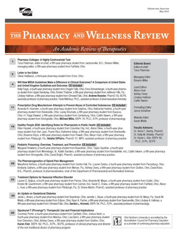 4 pharmacy and wellness review may 2011 by ONU Communications
